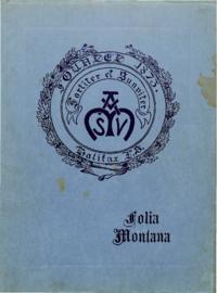 1921 - Folia Montana [Mount Saint Vincent]