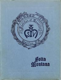 1923 - Folia Montana [Mount Saint Vincent]