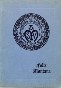 1925 - Folia Montana [Mount Saint Vincent]