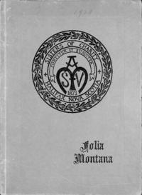 1929 - Folia Montana [Mount Saint Vincent]
