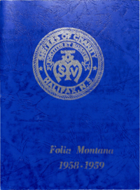 1959 - Folia Montana [Mount Saint Vincent Academy]