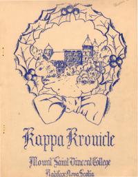 1935 December - Kappa Kronicle Publication [Mount Saint Vincent College]