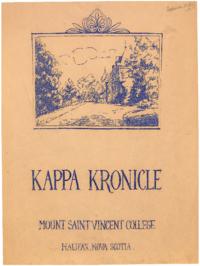 1935 September - Kappa Kronicle Publication [Mount Saint Vincent College]
