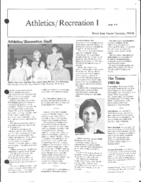 Athletics/Recreation Review 1985-86