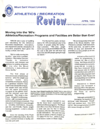 Athletics/Recreation Review 1994