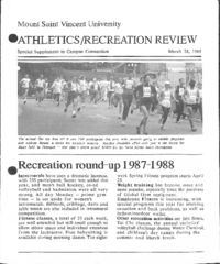 Athletics/Recreation Review 1988