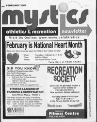 Mystics Athletics and Recreation Newsletter: February 2007