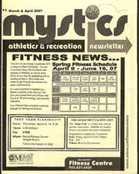 Mystics Athletics and Recreation Newsletter: March and April 2007