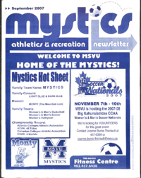 Mystics Athletics and Recreation Newsletter: September 2007