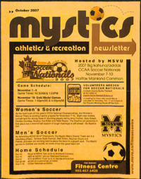 Mystics Athletics and Recreation Newsletter: October 2007