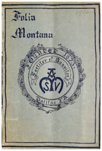 1916 - Folia Montana [Mount Saint Vincent]