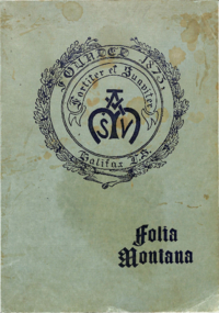 1919 - Folia Montana [Mount Saint Vincent]