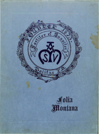 1921 - Folia Montana [Mount Saint Vincent]