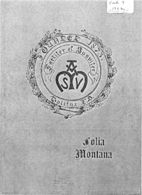 1922 - Folia Montana [Mount Saint Vincent]