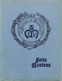 1923 - Folia Montana [Mount Saint Vincent]