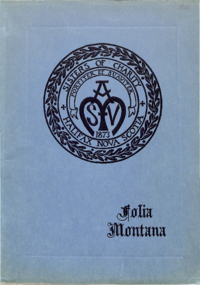 1925 - Folia Montana [Mount Saint Vincent]