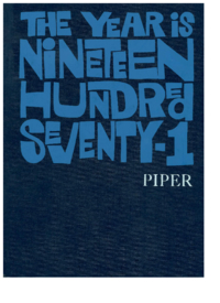 1971 - Piper [Mount Saint Vincent Academy]