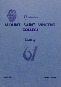 1961 - Graduation Class of 1961 [Mount Saint Vincent College]