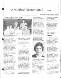 Athletics/Recreation Review 1985-86