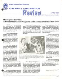 Athletics/Recreation Review 1994