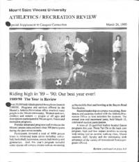 Athletics/Recreation Review 1990